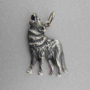 Zilveren Hanger Wolf