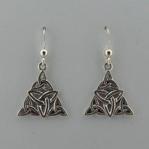 Zilveren Oorbel Triquetra