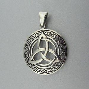 Zilveren Hanger Keltische Triquetra