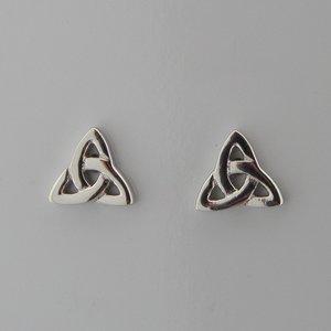 Zilveren Oorstekers Keltische Knoop Triquetra