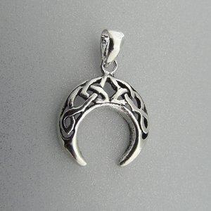 Zilveren Hanger Keltische Halve Maan