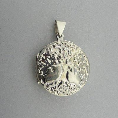 Zilveren Hanger Medaillon Levensboom