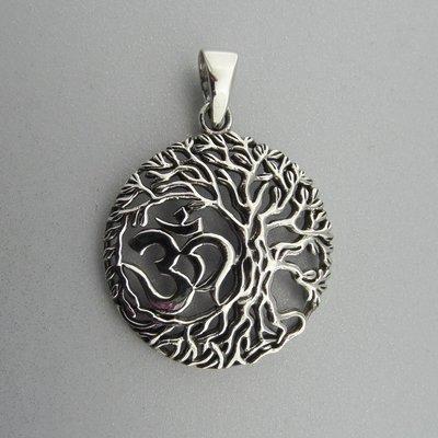 Zilveren Hanger Levensboom met Ohm