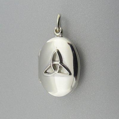 Zilveren Hanger Medalion met Keltisch Triquetra