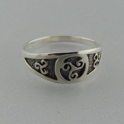 Zilveren Ring Keltische Triskel