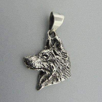 Zilveren Hanger Hondenkop