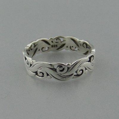 Zilveren Ring Golven