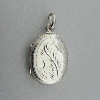 Zilveren Hanger Medaillon Ovaal