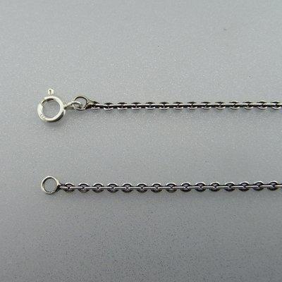 Zilveren Ketting Anker 60 cm