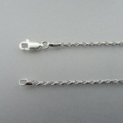 Zilveren Ketting Gedraaid  41 cm