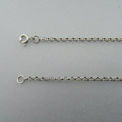 Zilveren Ketting Jasseron 45 cm