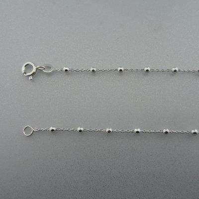 Zilveren Ketting met bolletjes 60 cm
