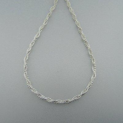Zilveren Ketting Gevlochten 42 cm
