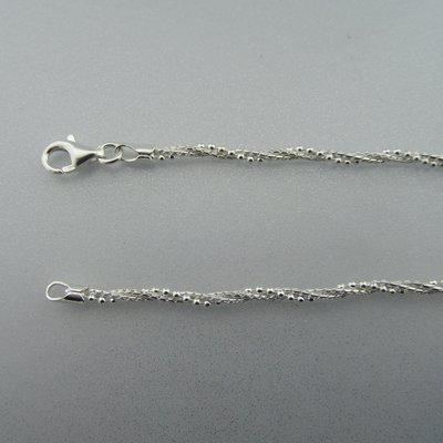 Zilveren Ketting Gedraaid  42 cm