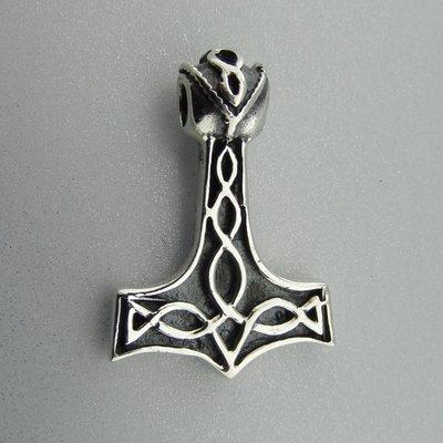 Zilveren Hanger Hamer van Thor met Keltische Knoop