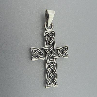 Zilveren Hanger Kruis Keltische Knoop