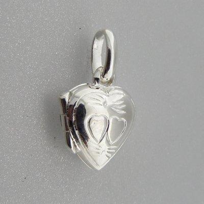 Zilveren Hanger Medallion Hartje