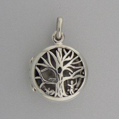 Zilveren Hanger Medallion Levensboom