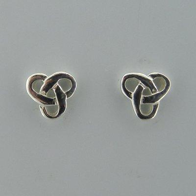 Zilveren Oorsteker Keltische Knoop