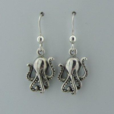 Zilveren Oorbel Inktvis