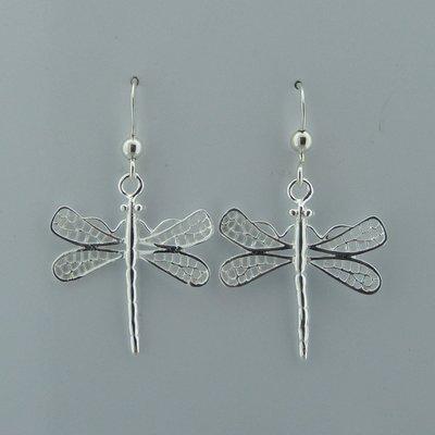 Zilveren Oorbel Libelle