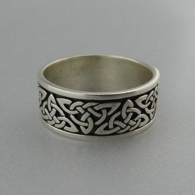 Zilveren Band Ring Keltische Triquetra