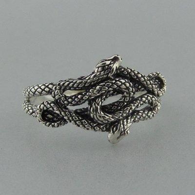 Zilveren Ring Slangen
