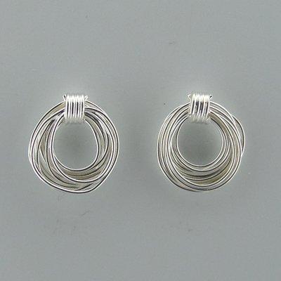 Zilveren Oorsteker Draad in Cirkel vorm