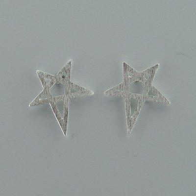 Zilveren Oorsteker Pentagram
