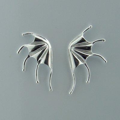 Zilveren Oorsteker Vleermuis Vleugel