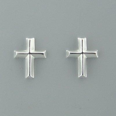 Zilveren Oorsteker Kruisje
