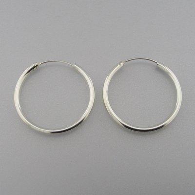 Zilveren Oorring 35 mm x 3 mm
