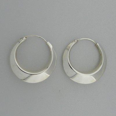 Zilveren Oorring 28 mm
