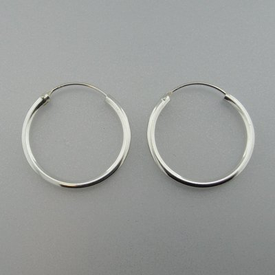 Zilveren Creolen  29 mm x 2,5 mm