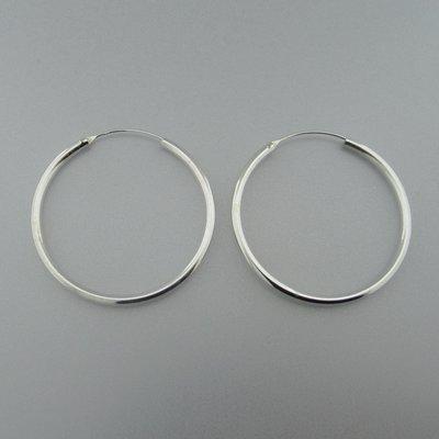 Zilveren Creolen 49 mm x 3 mm