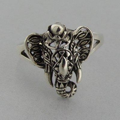 Zilveren Ring Ganesha