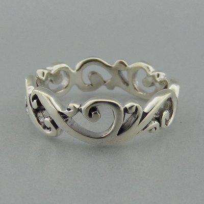 Zilveren Ring Open Bewerkt
