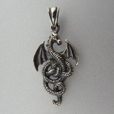 Zilveren Hanger Draakje