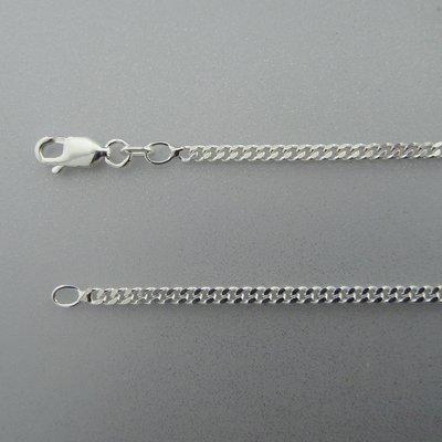 Zilveren Ketting Gourmet 50 cm