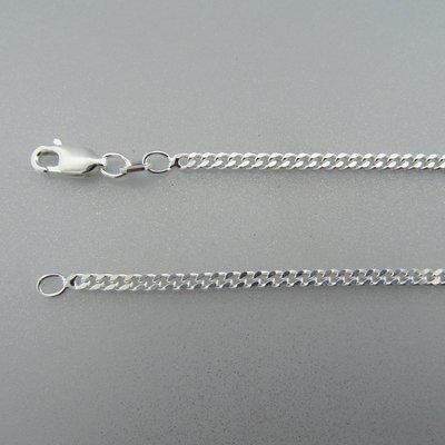 Zilveren Ketting Gourmet 45 cm