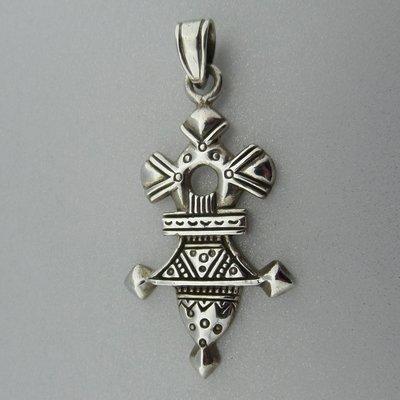 Zilveren Hanger Afrikaans Touareg kruis