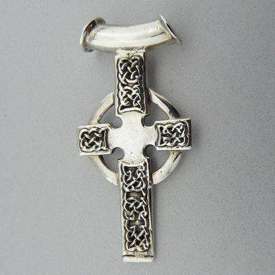 Zilveren Hanger Keltisch Kruis aan Buis