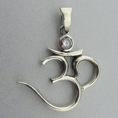 Zilveren Hanger Ohm met Zirkonia