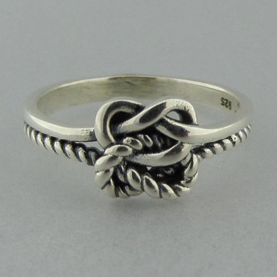 Zilveren Ring Dubbele Knoop