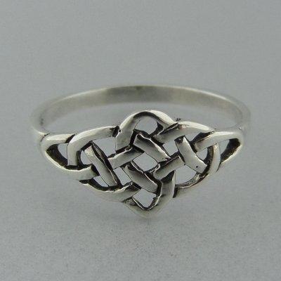 Zilveren Ring Keltische Knoop