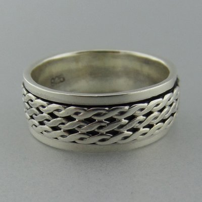 Zilveren Draai Ring