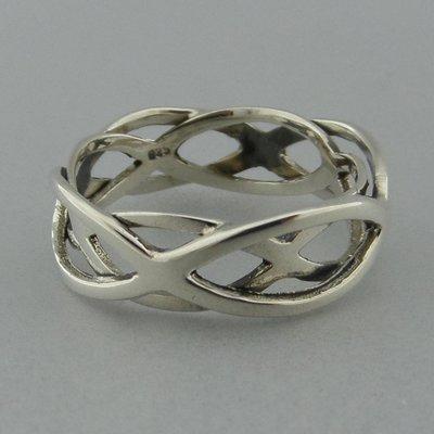 Zilveren Ring Dubbele Infinity