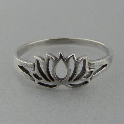 Zilveren Ring Flower of Life