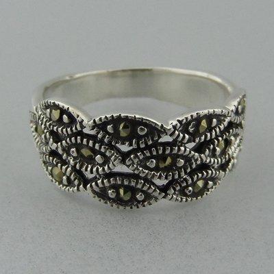 Zilveren Ring Markasietjes