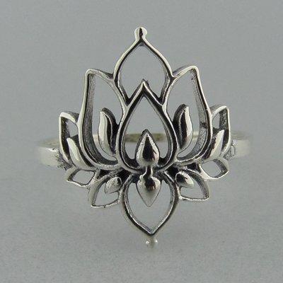 Zilveren Ring Lotus